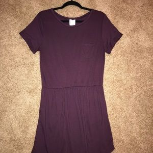 H& M Divided Plum Dress